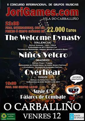 Concurso Internacional de grupos musicais, JORIGAMES, Carballiño