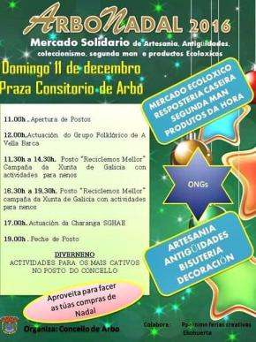 ARBONADAL, Mercadillo Solidario en Arbo, ARTESANIA