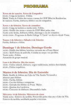 Entroido en Viana do Bolo e Festa da Androlla