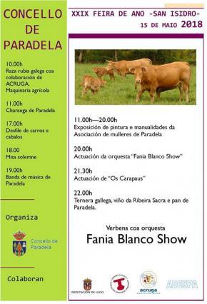 FEIRA ANUAL DE PARADELA  e festa de San Isidro